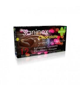 SANINEX PRESERVATIVOS CHOCOLATE 12UDS