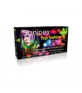 SANINEX PRESERVATIVOS TOP FASHION PUNTEADO 12UDS