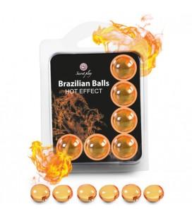 SECRET PLAY SET 6 BRAZILIAN BALLS EFECTO CALOR